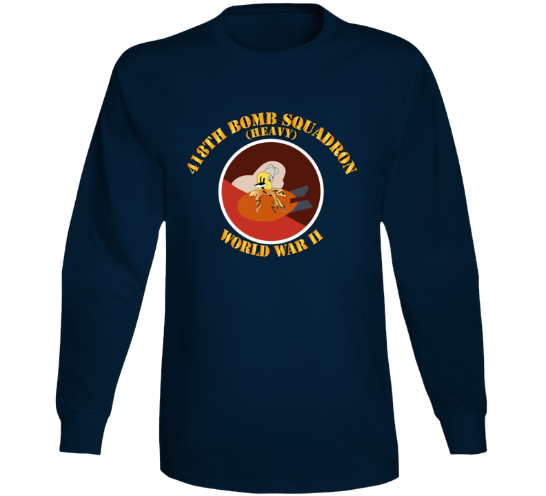 Aac - 418th Bomb Squadron Wwii Long Sleeve
