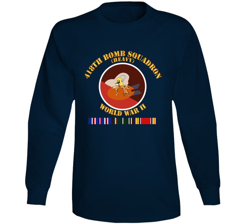 Aac - 418th Bomb Squadron Wwii W Svc Long Sleeve