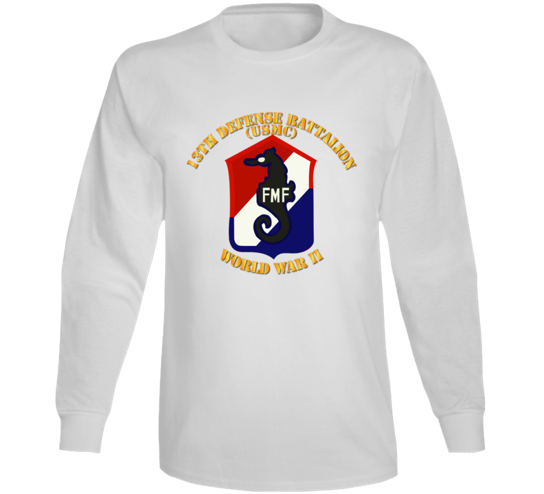 Usmc - 13th Defense Bn - Usmc - Wwii Long Sleeve