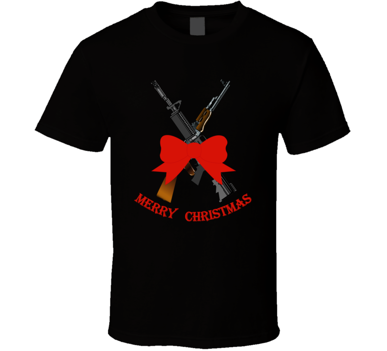 Weapons - Christmas Rifles - M4 - Ak T Shirt