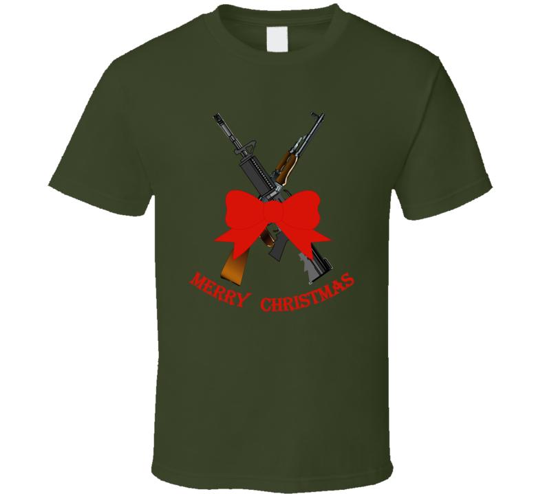 Weapons - Christmas Rifles - M4 - Ak T Shirt
