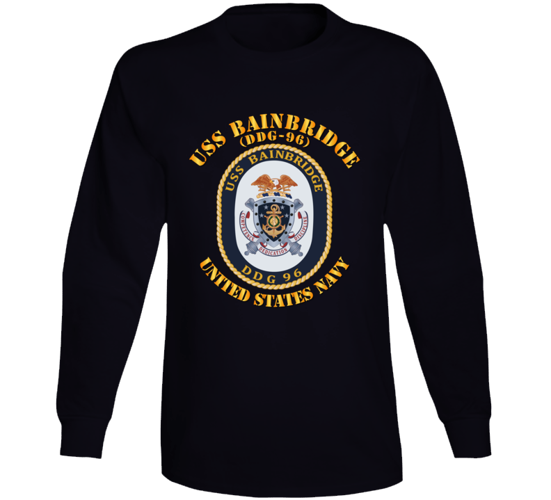 Navy - Uss Bainbridge (ddg-96) Long Sleeve