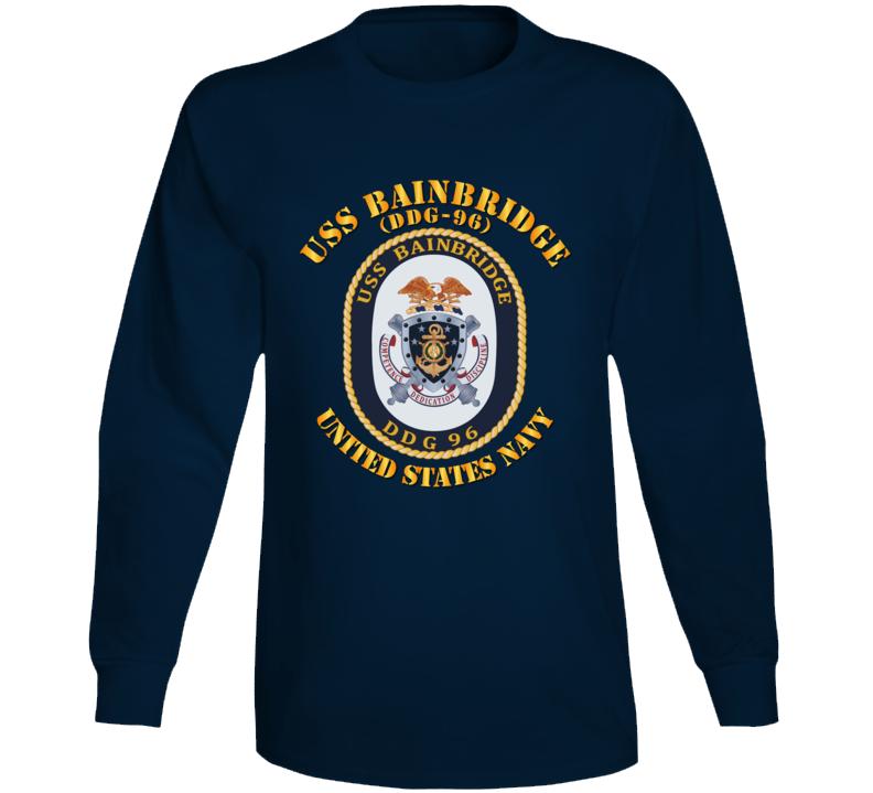 Navy - Uss Bainbridge (ddg-96) Long Sleeve