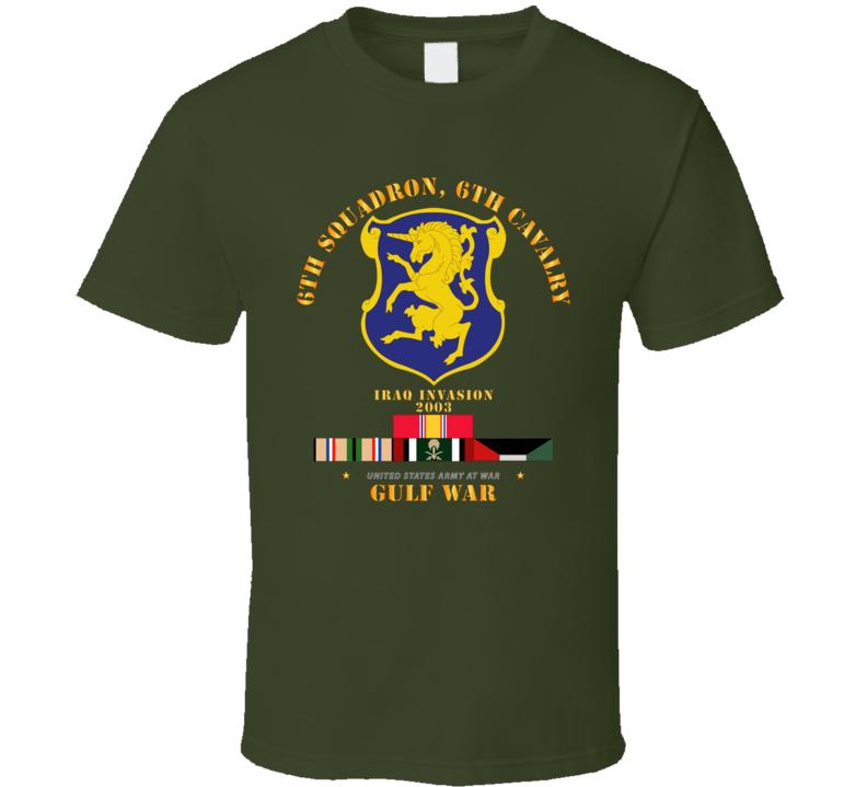 Army - 6th Sqdrn - 6th Cav Gulf War W Svc T Shirt