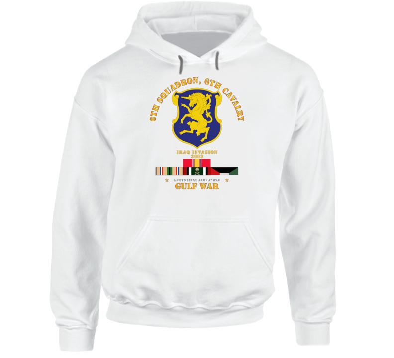 Army - 6th Sqdrn - 6th Cav Gulf War W Svc Hoodie