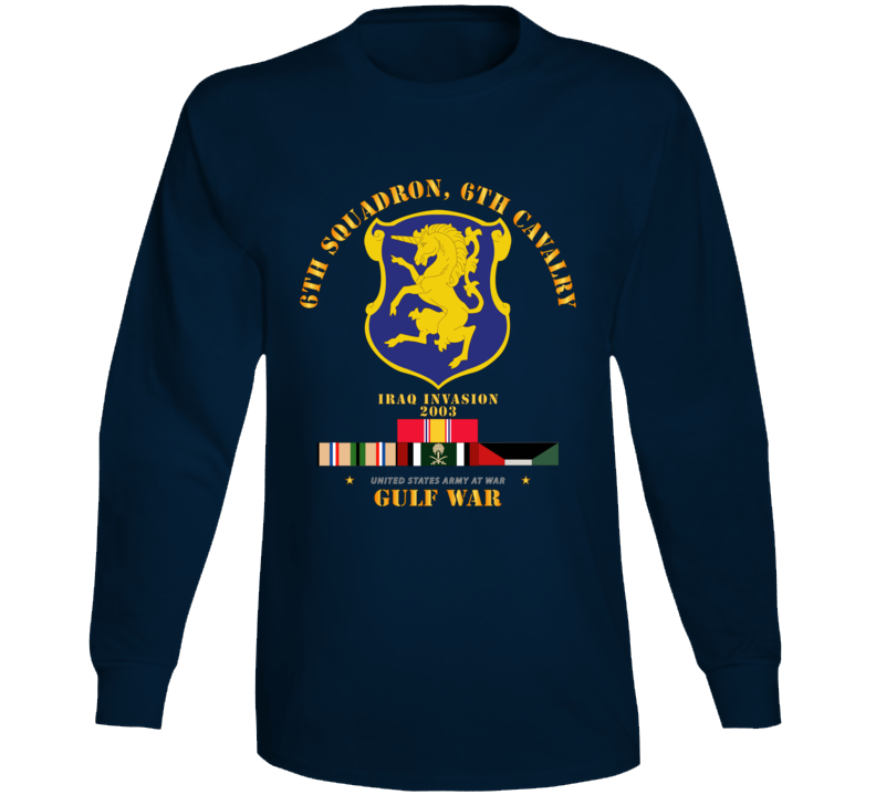 Army - 6th Sqdrn - 6th Cav Gulf War W Svc Long Sleeve
