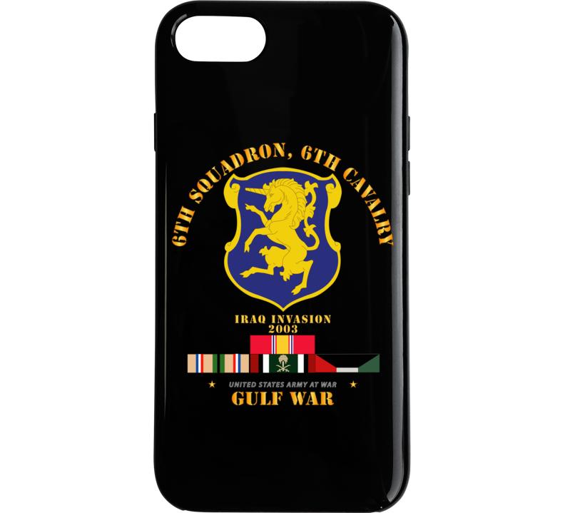 Army - 6th Sqdrn - 6th Cav Gulf War W Svc Phone Case
