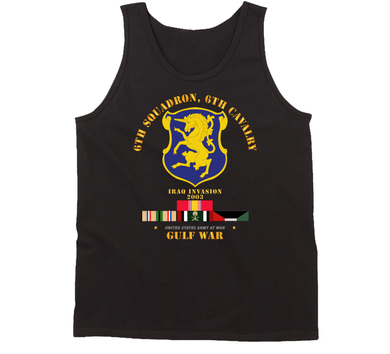 Army - 6th Sqdrn - 6th Cav Gulf War W Svc Tanktop