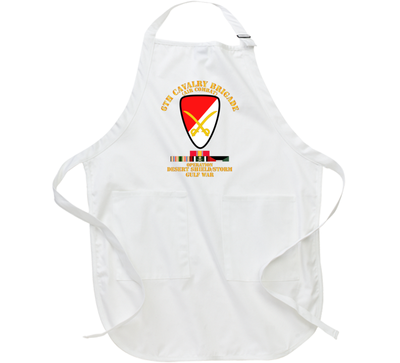 Army - 6th Cavalry Bde - Desert Shield - Storm W Ds Svc Apron