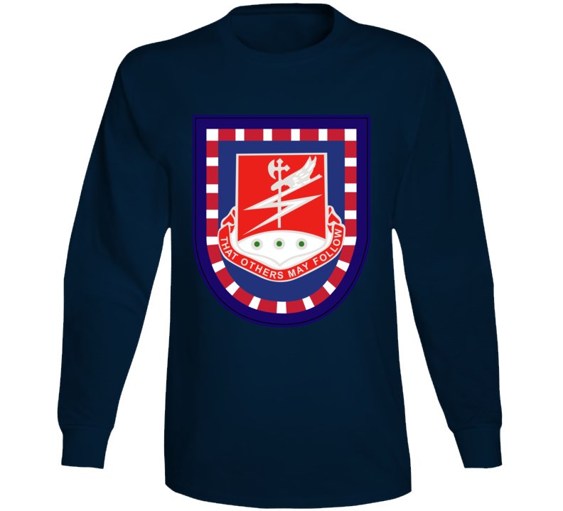 Army - Flash W 127th Airborne Engineer Bn Dui Wo Txt Long Sleeve