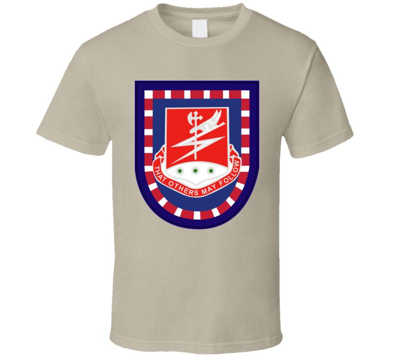 Army - Flash W 127th Airborne Engineer Bn Dui Wo Txt T Shirt