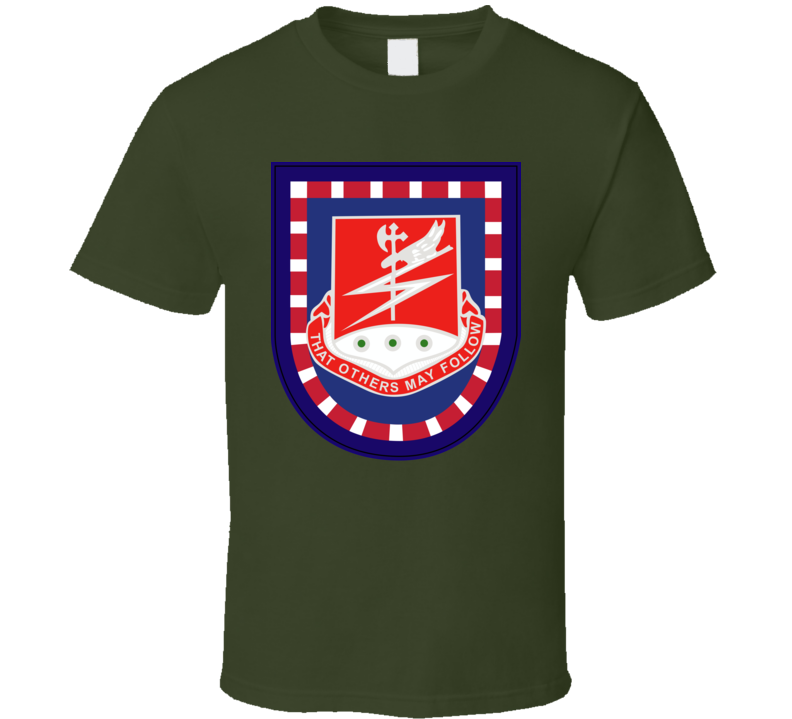 Army - Flash W 127th Airborne Engineer Bn Dui Wo Txt T Shirt