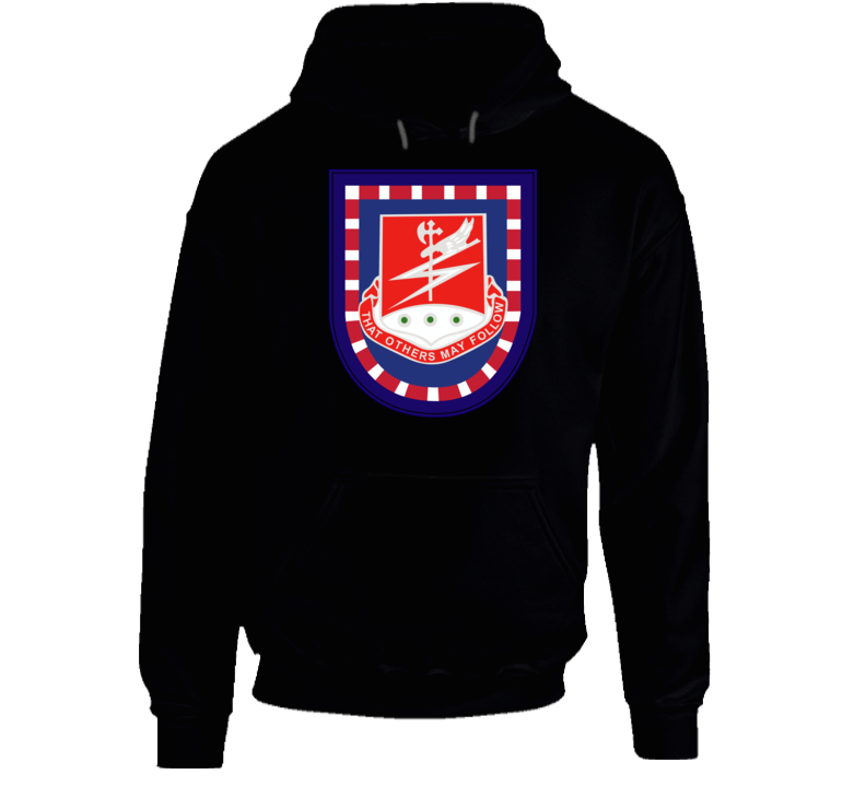 Army - Flash W 127th Airborne Engineer Bn Dui Wo Txt Hoodie