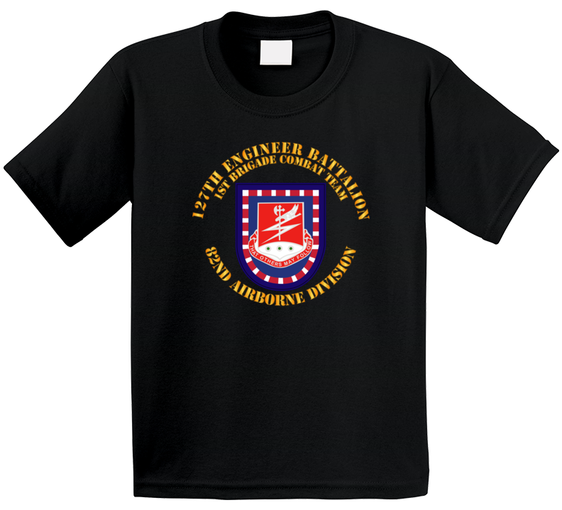Army - Flash W 127th Engineer Bn T Shirt