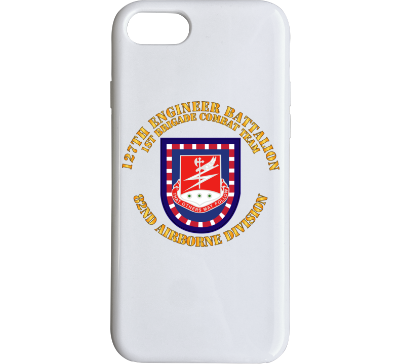 Army - Flash W 127th Engineer Bn Phone Case