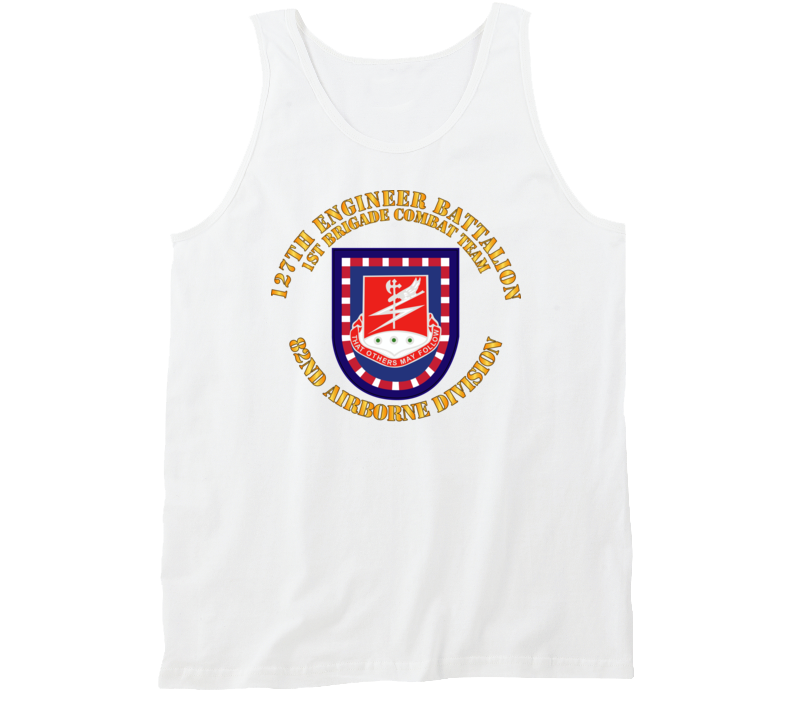 Army - Flash W 127th Engineer Bn Tanktop