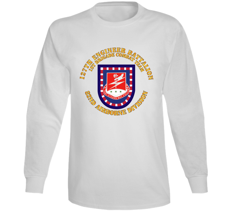 Army - Flash W 127th Engineer Bn Long Sleeve
