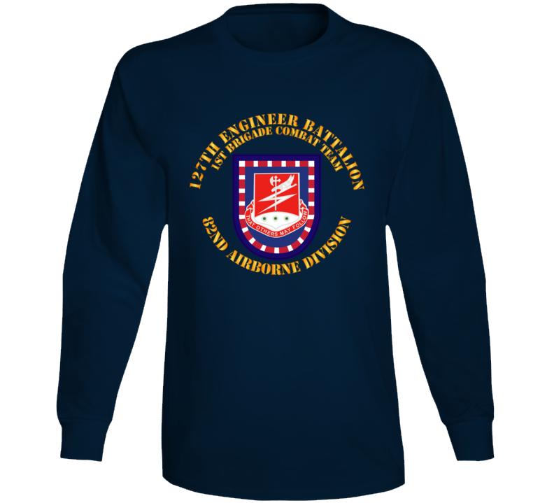 Army - Flash W 127th Engineer Bn Long Sleeve