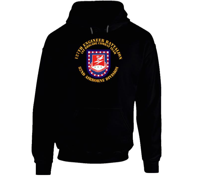 Army - Flash W 127th Engineer Bn Hoodie