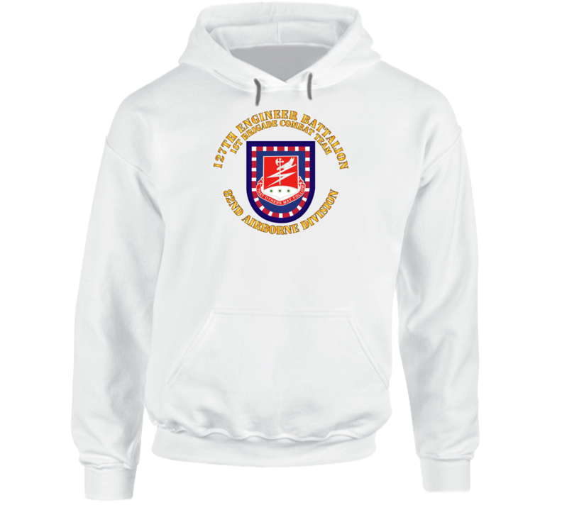Army - Flash W 127th Engineer Bn Hoodie