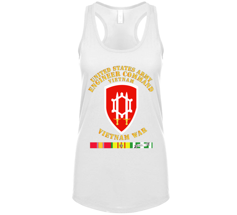 Army - Us Army Eng Cmd Vietnam - Vietnam War  W Svc T Shirt