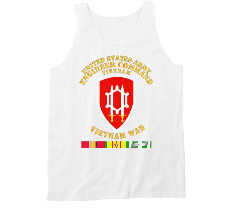 Army - Us Army Eng Cmd Vietnam - Vietnam War  W Svc Tanktop