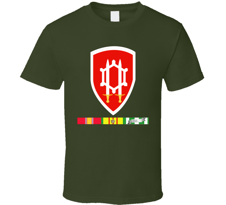 Army - Us Army Eng Cmd Vietnam - Vietnam War W Svc Wo Txt T Shirt