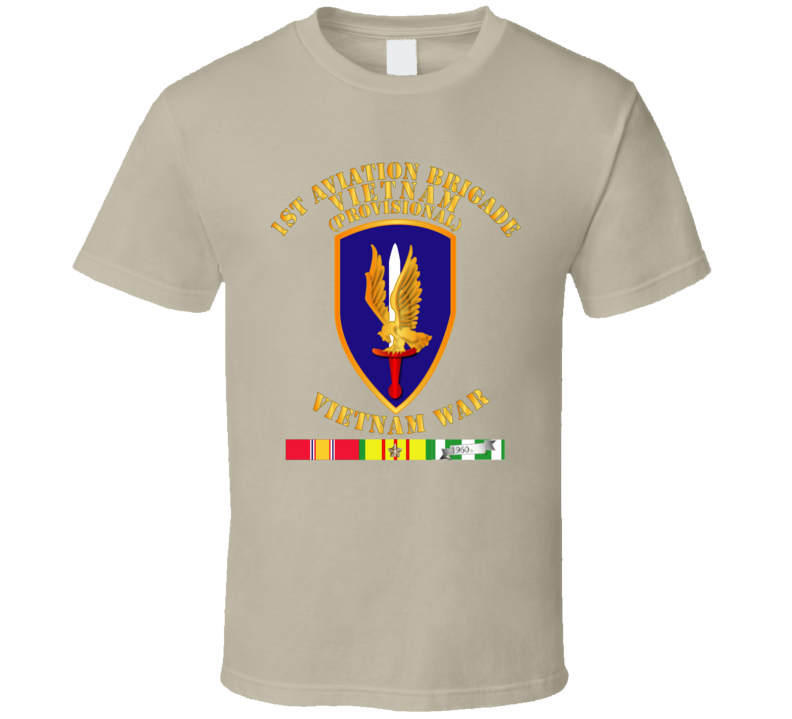 Army - 1st Aviation Brigade (provisional) - Vietnam War W Svc T Shirt