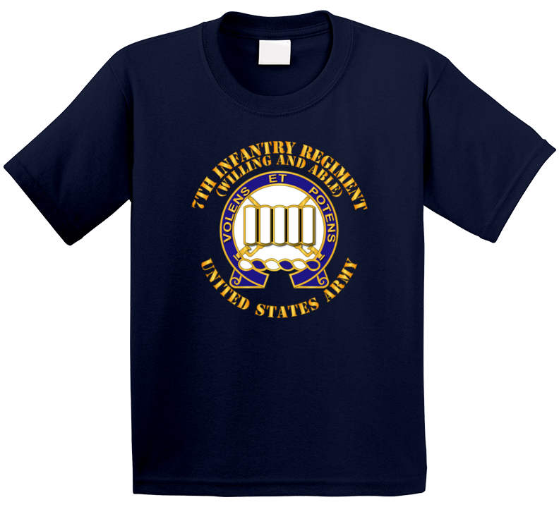 Army - Dui - 7th Infantry Regiment - Willing And Able Kids T Shirt