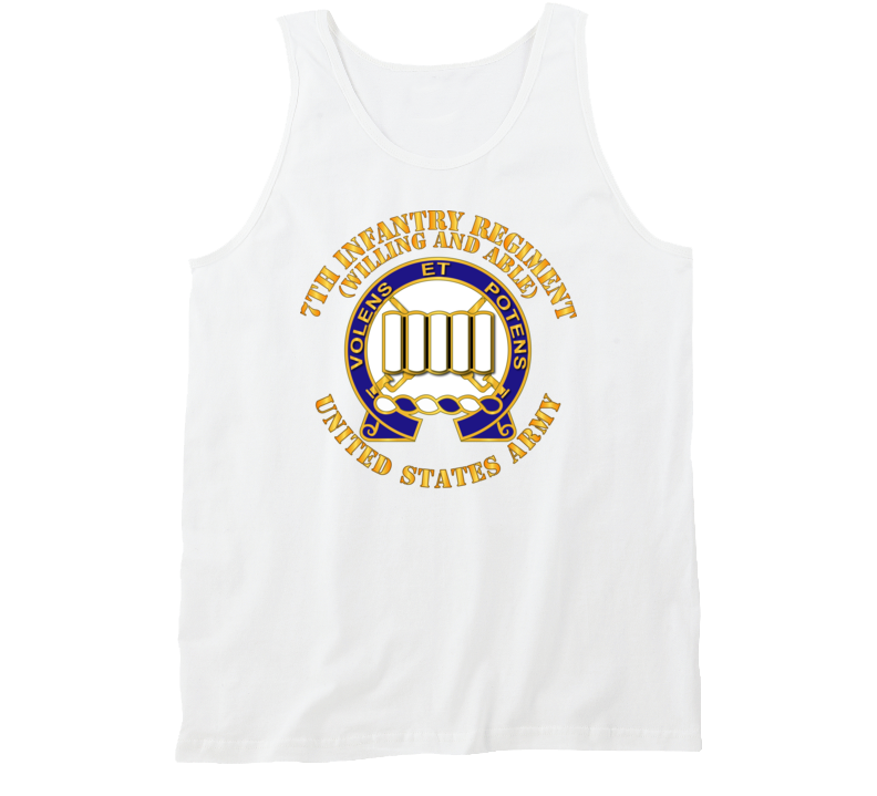 Army - Dui - 7th Infantry Regiment - Willing And Able Tanktop