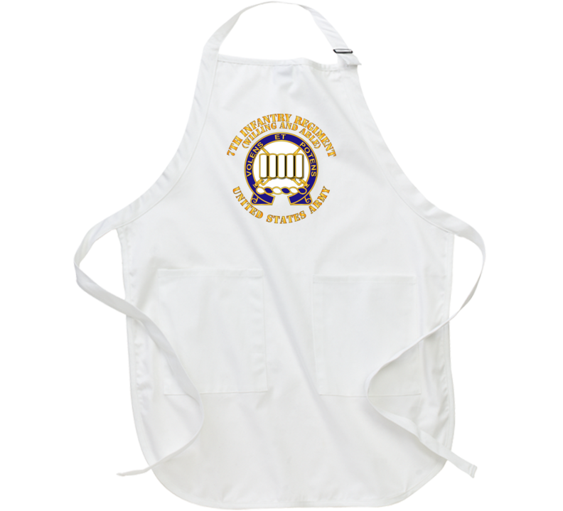 Army - Dui - 7th Infantry Regiment - Willing And Able Apron