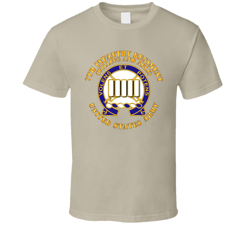 Army - Dui - 7th Infantry Regiment - Willing And Able T Shirt
