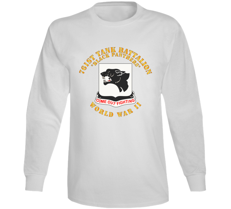 Army - 761st Tank Battalion - Black Panthers - WWII Long Sleeve