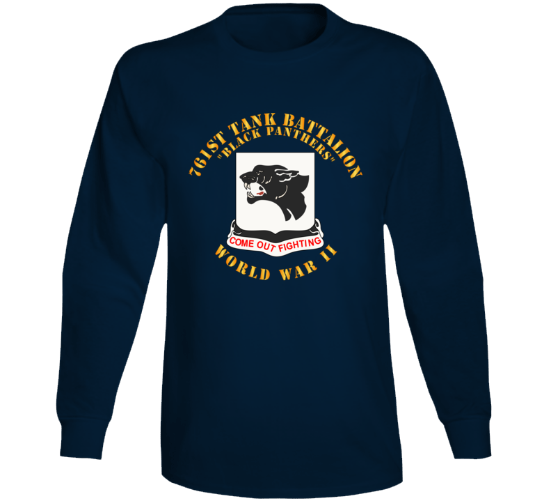 T-Shirt - Army - 761st Tank Battalion - Black Panthers - WWII Long Sleeve