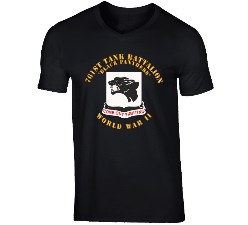 T-Shirt - Army - 761st Tank Battalion - Black Panthers - WWII T Shirt