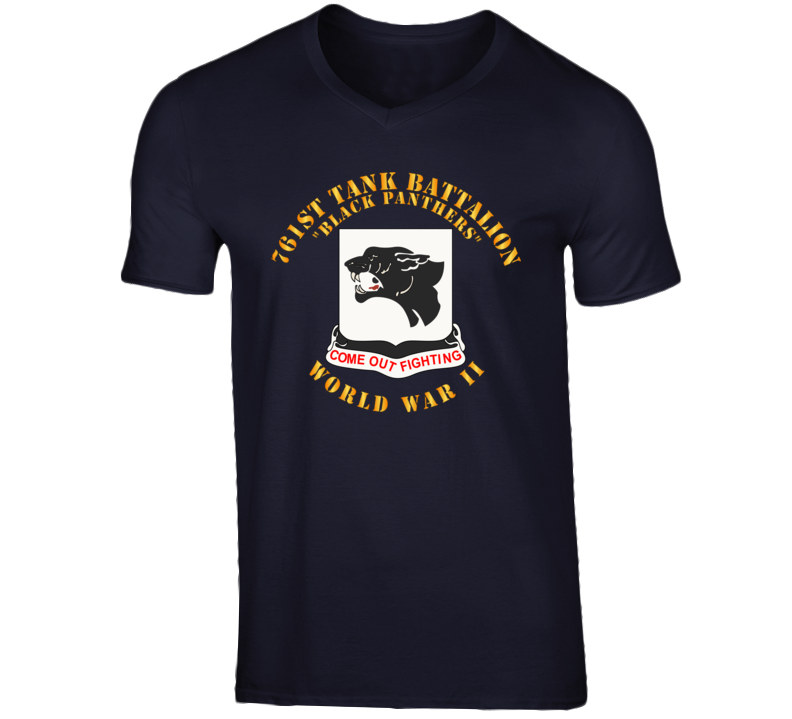 T-Shirt - Army - 761st Tank Battalion - Black Panthers - WWII T Shirt