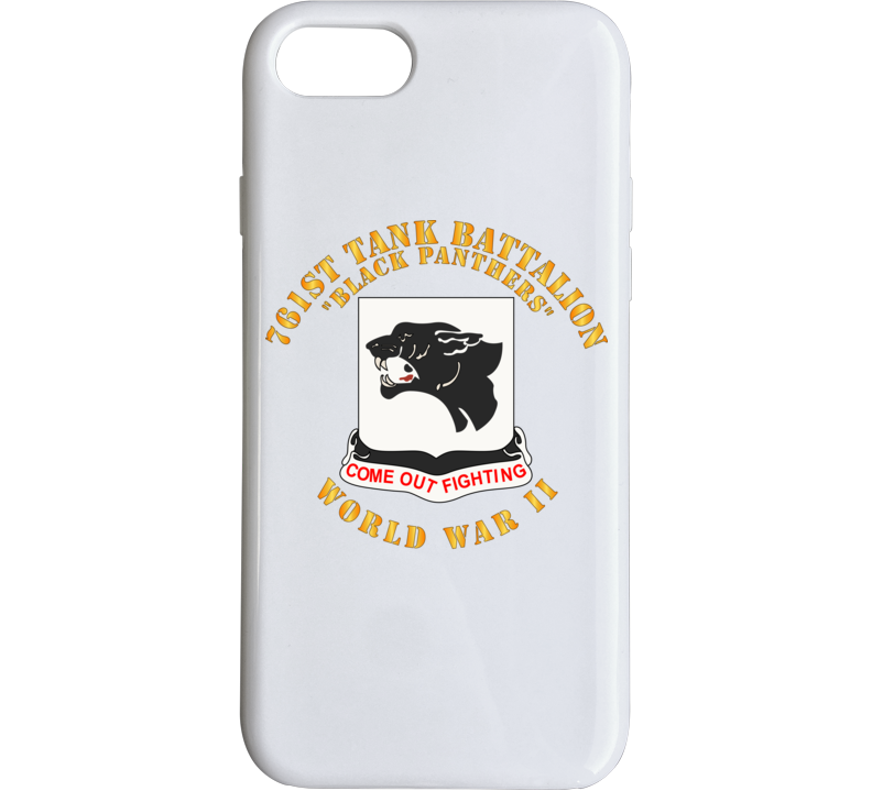 Army - 761st Tank Battalion - Black Panthers - WWII Phone Case