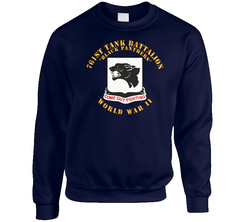 Army - 761st Tank Battalion - Black Panthers - WWII Crewneck Sweatshirt
