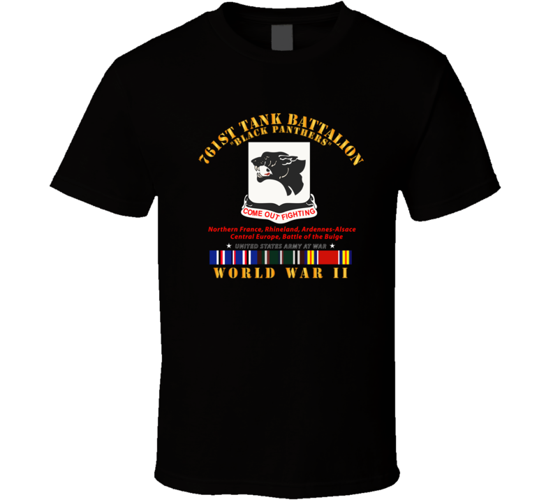 Army - 761st Tank Battalion - Black Panthers - WWII  EU SVC T Shirt