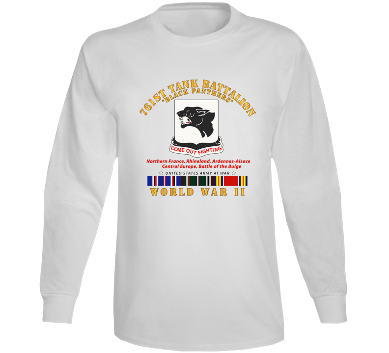 Army - 761st Tank Battalion - Black Panthers - WWII  EU SVC Long Sleeve