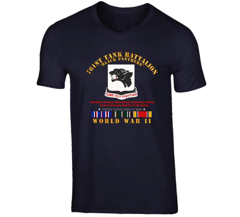 Army - 761st Tank Battalion - Black Panthers - WWII  EU SVC T Shirt