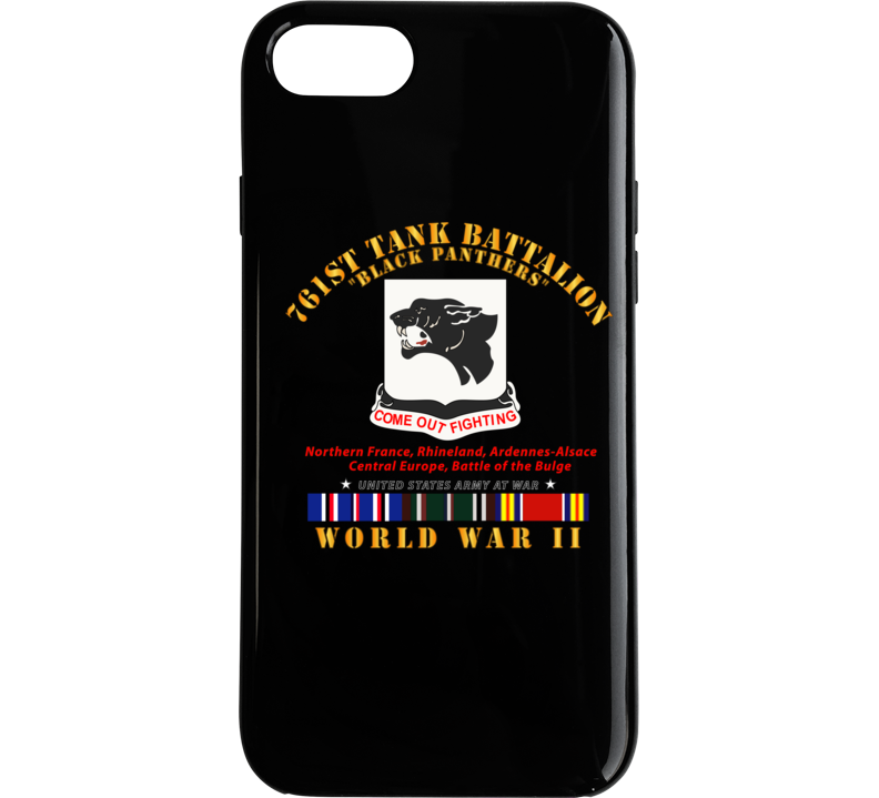 Army - 761st Tank Battalion - Black Panthers - WWII  EU SVC Phone Case