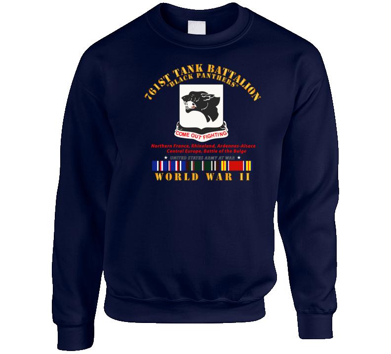 Army - 761st Tank Battalion - Black Panthers - WWII  EU SVC Crewneck Sweatshirt
