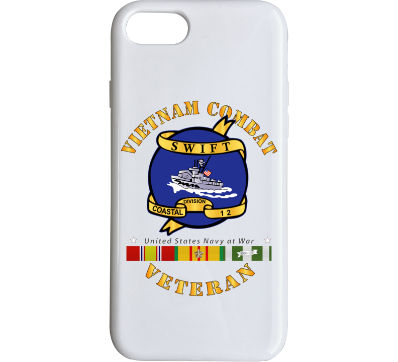 Navy - Vietnam Cbt Vet - Navy Coastal Div 12 - Swift W Svc Phone Case
