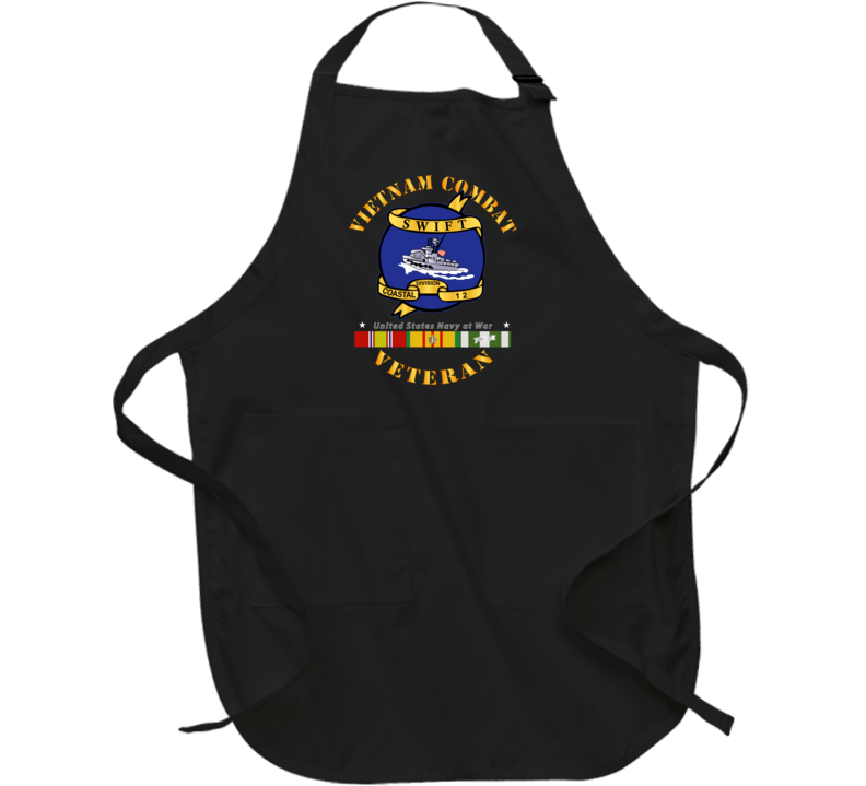 Navy - Vietnam Cbt Vet - Navy Coastal Div 12 - Swift W Svc Apron