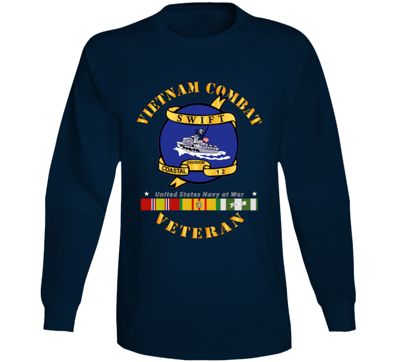 Navy - Vietnam Cbt Vet - Navy Coastal Div 12 - Swift W Svc Long Sleeve