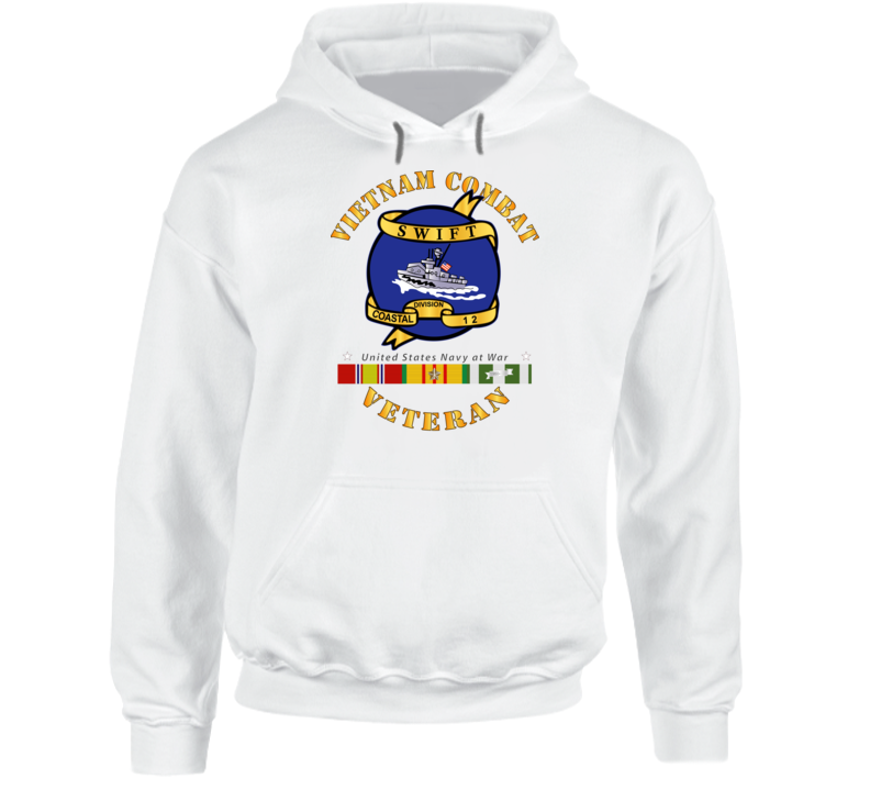 Navy - Vietnam Cbt Vet - Navy Coastal Div 12 - Swift W Svc Hoodie