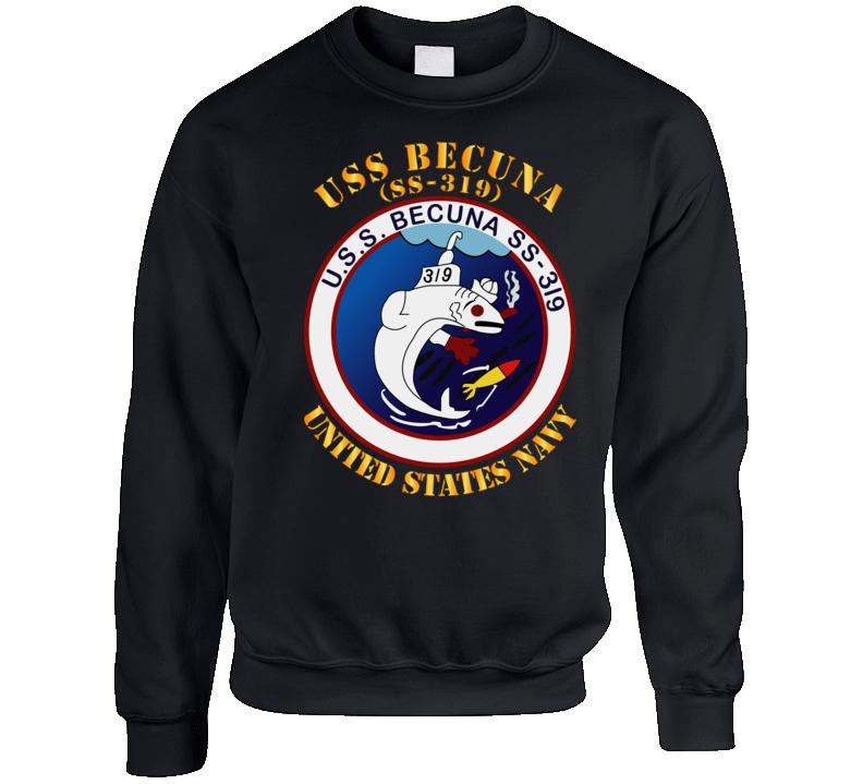 Navy - Uss Becuna (ss-319) Crewneck Sweatshirt