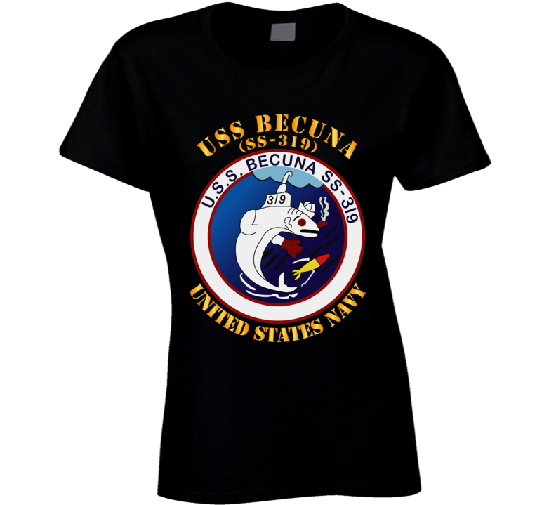 Navy - Uss Becuna (ss-319) Ladies T Shirt