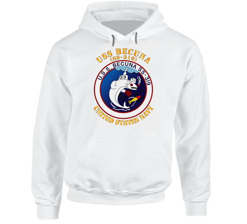 Navy - Uss Becuna (ss-319) Hoodie
